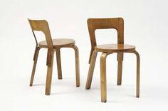 Alvar Aalto, Pair of chairs, model no. 65