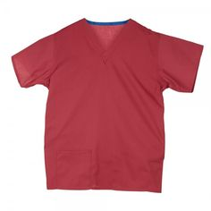 Budget Scrub Top in Raspberry £9.99  #medicalscrubs #nursescrubs  #nurses #pinkscrubs #nurseuniform Medical Scrubs, Scrub Tops, Perfect Fit, Budgeting, Unisex, Mens Tops, Cotton, How To Wear, Stuff To Buy
