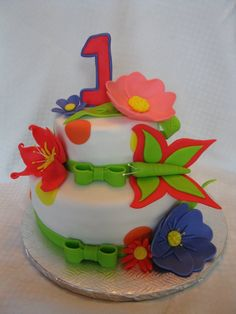 superbe gâteau de fête création choco-vanille