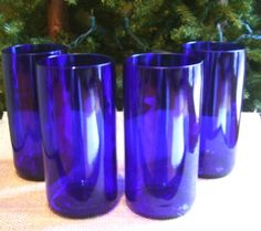 New SizeCobalt Blue Tumblers 16 oz made with Reisling wine bottles- $25.00-Save 10% with an Earth Month Special.  Enter coupon code: GREENPLANET at checkout.