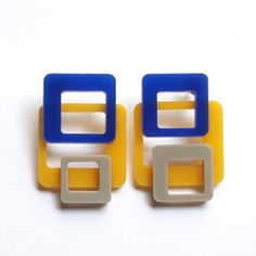 Modern design earrings made of methacrylate and di DARQDESIGN