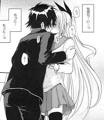 chitoge and raku kiss - Google Search