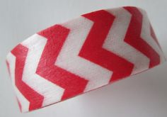 Washi Tape  1 Roll  Red and White Chevron  by HazalsBazaar on Etsy, $4.00