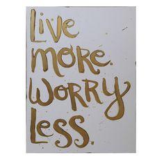 Worry Less Art Print