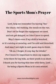 The Sports Mom's Prayer Soccer Mom Soccer Mom Meme, Soccer Mom Quotes, Softball Mom, Funny Mom Quotes, Hockey Mom, Baseball Mom, Soccer Humor, Soccer Moms, Hockey Gifts