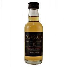 Glen Scotia 15 year old Whisky Miniature Single Malt available to buy online at specialist whisky shop whiskys.co.uk Stamford Bridge York