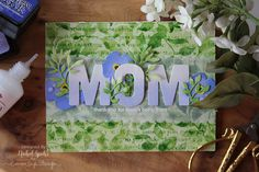 Nichol Spohr LLC: Simon Says Stamp   Layered Background Stamps Mom Forget-Me-Nots Card
