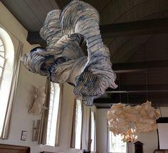 Church in IJhorst-Grensloos Kunst Verkennen 2014 Paper sculptures Peter Gentenaar