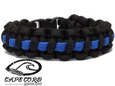 Police Paracord Bracelet Thin Blue Line – Cape Cord Paracord