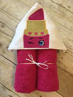 "Lovely Lipstick Applique Hooded Bath, Beach Towel 30"" x 54"" by MommysCraftCreations on Etsy"