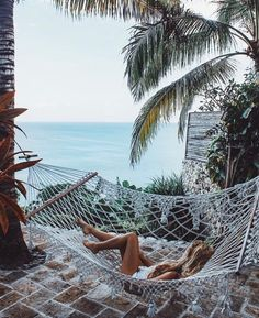 beach life, chilling in hammocks with this view.