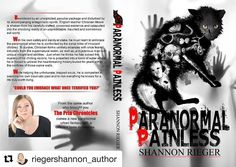 #Repost @riegershannon_author with @repostapp  Front and back covers of Paranormal Painless with an upcoming March release. A young adult urban paranormal fantasy fiction book one of a new series. If you loved my Pria Chronicles series give it a download or purchase at the end of March.  #paranormalpainless #paranormalfiction #fantasyfiction #paranormalthriller #thriller #creepy #bookstagram #bookish #bookaddict #instabook #book #novel #fiction #youngadult #ghost #spirit #thriller