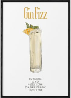 Gin Fizz Cocktail, Cocktail Recipes, Cocktails, Beverages, Drinks, Bartender, Decoupage, Magazine, Eat