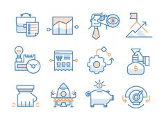 Business Startup Icons by Konstantin Rassilnov