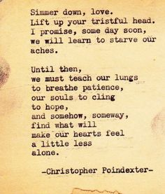 Christopher Poindexter #poetry