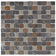 @Overstock - These mosaic tiles are perfect for baths, backsplashes, and kitchens. A fascinating mix of smooth and textured glass accent these multicolored stone square tiles.http://www.overstock.com/Home-Garden/SomerTile-Reflections-Square-1-in-Wisp-Glass-Stone-Mosaic-Tile-Pack-of-10-11.75-x-11.75-in./6359110/product.html?CID=214117 $122.90