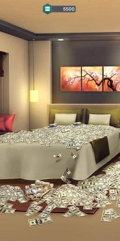A bed full of money? That was a very successful heist if I might say lol I also love that they mix this story with characters from other books Episode Interactive Backgrounds, Episode Backgrounds, Cool Backgrounds, Aesthetic Backgrounds, Scenery Background, Background Images For Editing, Anime Scenery Wallpaper, Pastel Wallpaper, City Wallpaper