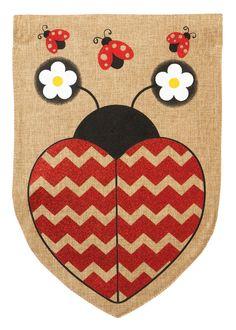 Love Ladybug Garden Flag