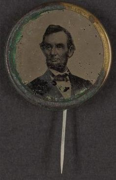 Lincoln Campaign Button for Presidential Election of 1864.