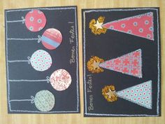 Postals nadal Kids Christmas, Christmas Crafts, Xmas Cards, Greeting Cards, Winter Art, Craft Activities, Art School, Garland, Diy And Crafts