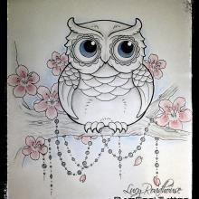 new school girly owl tattoos - Google Search
