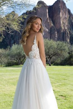Sweetheart Gowns Slim A-Line Gown with Illusion Bodice and Eyelash Lace Bodice Wedding Dress, Lace Wedding Dress With Sleeves, Lace Bodice, Pretty Wedding Dresses, Bridal Dresses, Bridesmaid Dresses, Sweetheart Gowns, Deb Dresses, A Line Gown