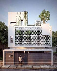 Widzieliście kiedyś taki styl budownictwa? Jest bardzo odważny, ale podoba się w nim kilka elementów. Nie tylko futurystyczny wystrój. Mamy dla przykładu na myśli wysoką klasę użytych materiałów, a także powszechnie widoczną zieleń. Jest jej dużo, a to zawsze wpływa na wizerunek, przynajmniej naszym zdaniem. Poczujcie się jak w dobrze zadbanym apartamentowcu. Pierwsza klasa! #dom #styl #architekt #budowa #drewno ##drzwi ##drewniane