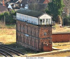 The Severn Junction signal box at Shrewsbury Railway Station, Shropshire, UK - Stock Image Old Train Station, Train Stations, Severn Bridge, Routemaster, Steam Railway, Abandoned Train, Diesel Locomotive, Covered Bridges, Train Travel