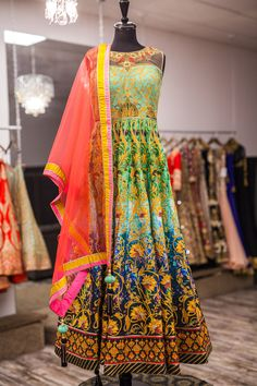 Buy Multicolor Khatli Work Sleeveless Long Anarkali Frock Suit online in India at best price. This is bollywood replica gown style dress. Top made in satin silk and silk inner fabric. Anarkali Frock, Silk Anarkali Suits, Patiala Salwar, Salwar Suits, Silk Dupatta, Long Anarkali, Choli Dress, Lehenga Choli, Lehenga Style