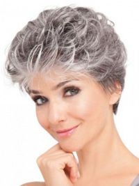 Lace Front Synthetic Grey Short Wavy Older Ladies Hair Wigs surely have a striking beauty and are perfect for women of all age groups. Our grey wigs are natural looking. We love these gray wigs, and we think you will too! Grey Hair Wig, Short Grey Hair, Short Wavy, Short Pixie, Hair Styles For Women Over 50, Short Hair Cuts For Women, Short Hairstyles For Women, Wig Hairstyles, Short Haircuts