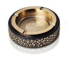 Household Merchandises Ashtrays Zinc alloy PU leather round ashtray free shipping #Affiliate