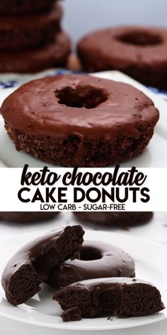 Keto Chocolate Cake Donuts You know what time it is, don't you? It's time to make the keto donuts! And you won't find tastier low carb and sugar-free donuts than these sweet little guys. This is the ultimate low carb donut recipe! Dig in and enjoy. Low Carb Donut, Low Carb Sweets, Low Carb Keto, Low Carb Recipes, Keto Fat, Healthy Recipes, Keto Apple Recipes, Coconut Flour Recipes Keto, Keto Pancakes Coconut Flour