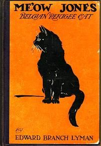 """""""Me'ow Jones Belgian Refugee Cat"""" by Edward Branch Lyman, illustrated by Julia Daniels; George H. Doran Co., 1917 - book cover"""