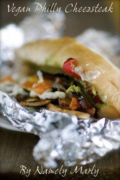 Vegan Philly Cheezsteak Sandwich by Namely Marly