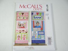 New Uncut FF McCall's Crafts 7136 Pattern - Kids Play Shops - Kids Doorway Play Shop - Bank Cupcake Play Shop Door - Kids Play Room Bedroom by SecondWindShop on Etsy
