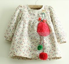 Cheap Dresses on Sale at Bargain Price, Buy Quality dress super, dress desines, dress blouses plus size from China dress super Suppliers at Aliexpress.com:1,Fabric Type:Flannel 2,suitable season:winter 3,Gender:Girls 4,Pattern Type:Floral 5,Built-in Bra:no