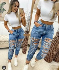 Swag Outfits For Girls, Casual School Outfits, Cute Casual Outfits, Teenage Outfits, Hot Outfits, Girl Outfits, Fashion Outfits, Tumblr Outfits, Black Women Fashion
