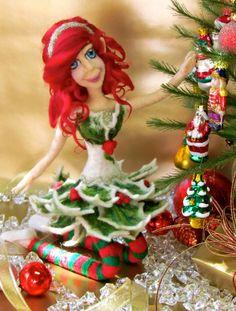 Christmas fairy doll Poseable doll Christmas decor by OooDolls