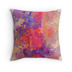floral composition Throw Pillows