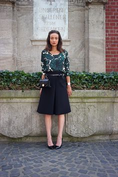 Belt bag + A line skirt