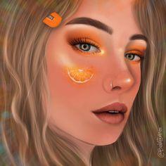 Oranges Portrait Art, Septum Ring, Illustration Art, Orange, Jewelry, Illustrations, Jewlery, Jewerly, Schmuck