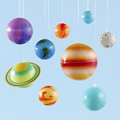 Shop Glow-in-the-dark Hanging Solar System. The perfect piece of room décor for the kid that can't get outer space out of their system. Features nine colorful, hanging glow-in-the-dark planets. CHOKING HAZARD – Small parts. Not for children under 3 yrs. Solar System Room, Solar System Mobile, Bedroom Themes, Nursery Themes, Bedroom Ideas, Space Theme Bedroom, Bedrooms, Design Bedroom, Nursery Ideas