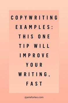 Copywriting Examples: This One Trick Will Improve Your Writing Learn how to improve your copywriting, create higher conversions, and connect more authentically with your audience. Blog Writing, Writing Prompts, Writing Tips, Improve Writing, Writing Lessons, Writing Resources, Writing Skills, Content Marketing, Online Marketing