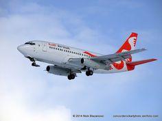 Air Inuit Boeing 737-2Q2C/Adv C-GMAI on final approach to Winnipeg-Richardson International, February 2014. (Photo via Flickr: Nick Blazanovic)