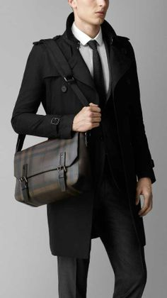 Shop men's bags from Burberry, a runway-inspired collection featuring briefcases and backpacks, as well as crossbody and tote bags for men. Messenger Bag Men, Dapper, Fashion Bags, Suit Jacket, Menswear, Leather Jacket, Man Shop, Jackets, How To Wear