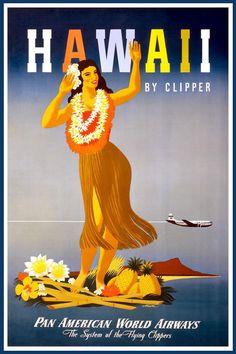 American Vintage Travel Posters | PAN AMERICAN WORLD AIRWAYS