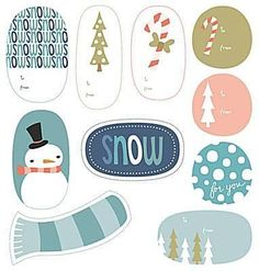 43 Sets of Free Printable Christmas Gift Tags: Wintry Holiday Tags by…