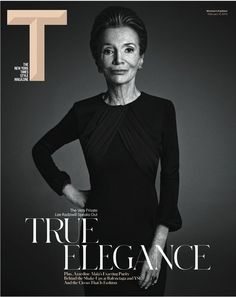First cover of the redesigned New York Times T magazine, coming out Sunday. Cover of Lee Radziwell photographed by Mario Sorrenti.