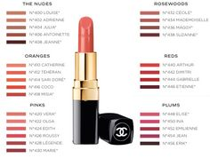 Chanel's got a new range of lipsticks with all the IT shades you can think of and it's got everyone on the team curling their toes in delight Maybelline Lipstick, Chanel Lipstick, Chanel Makeup, Lipstick Swatches, Lipstick Shades, Lipstick Colors, Lip Colors, Lipsticks, Lipstick Tutorial