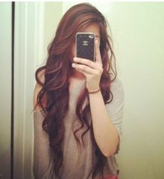 Beautiful long wavy hair... I want my hair this long